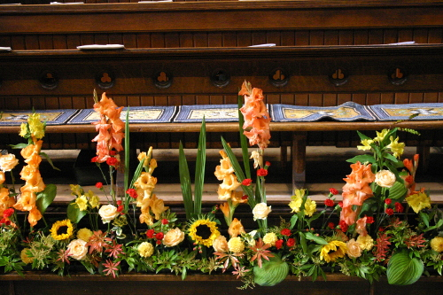 Flower Festival Choir Stall