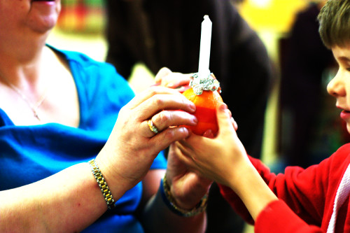 Completed Christingle