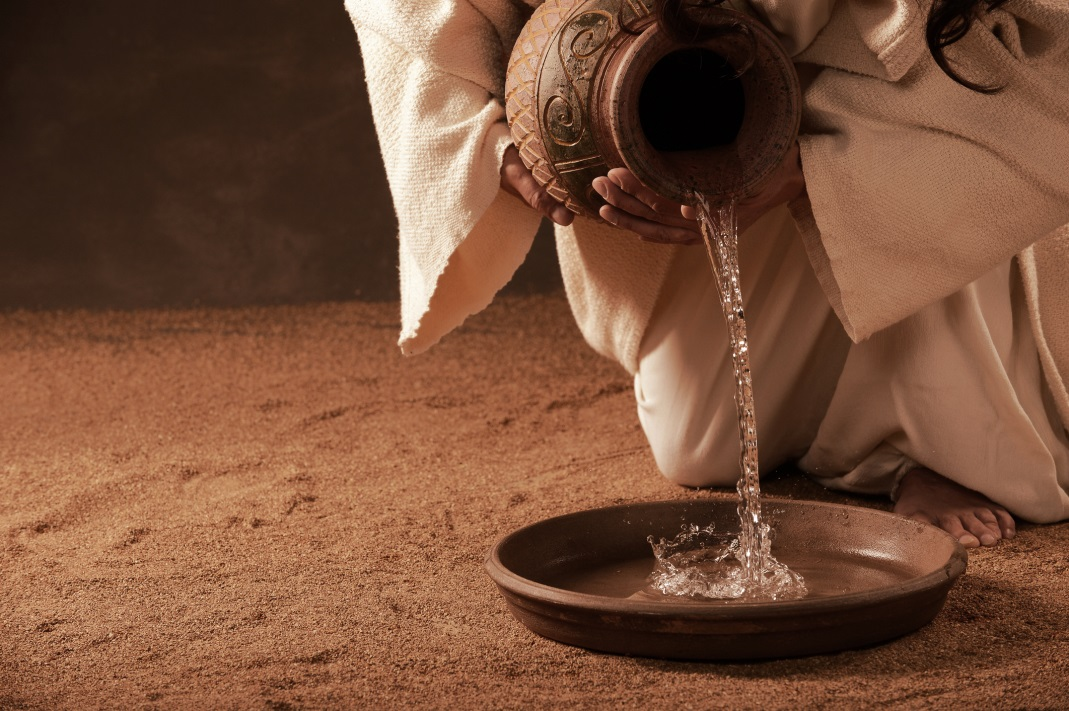 An incredible perspective of Jesus washing the feet of his ...