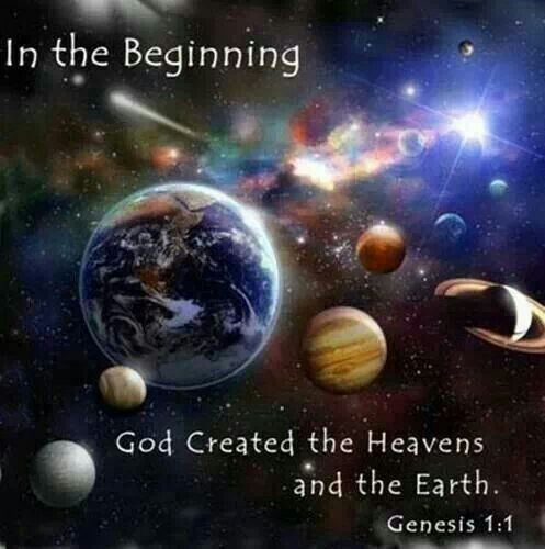 In the beginning Jehovah created the Heaven's & The Earth ...