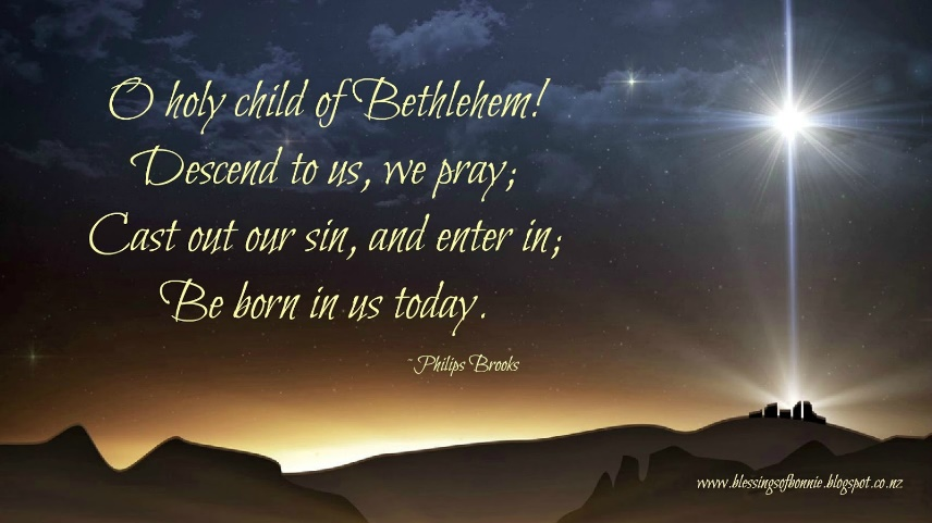 Bonnie's Blessings: Be Born in Me - Merry Christmas 2016!