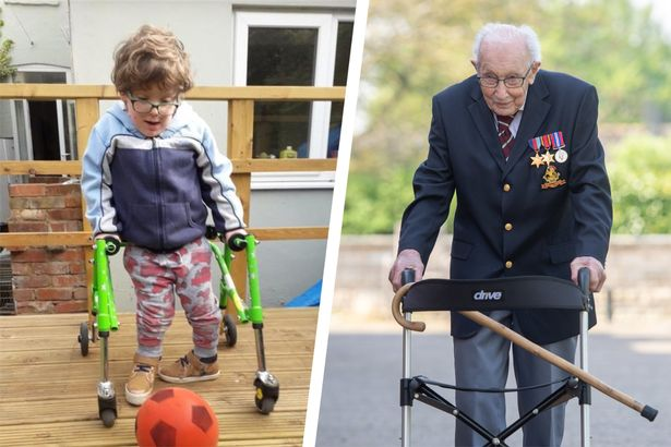 Amazing Frank, 6, follows in Captain Tom's steps - and raises thousands -  Bristol Live
