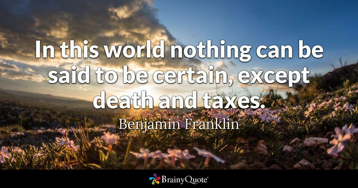 Benjamin Franklin - In this world nothing can be said to...
