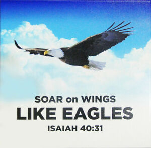 """Hanging Picture Plaque """"SOAR ON WINGS LIKE EAGLES"""" - Isaiah 40:31 -  PR09-354 