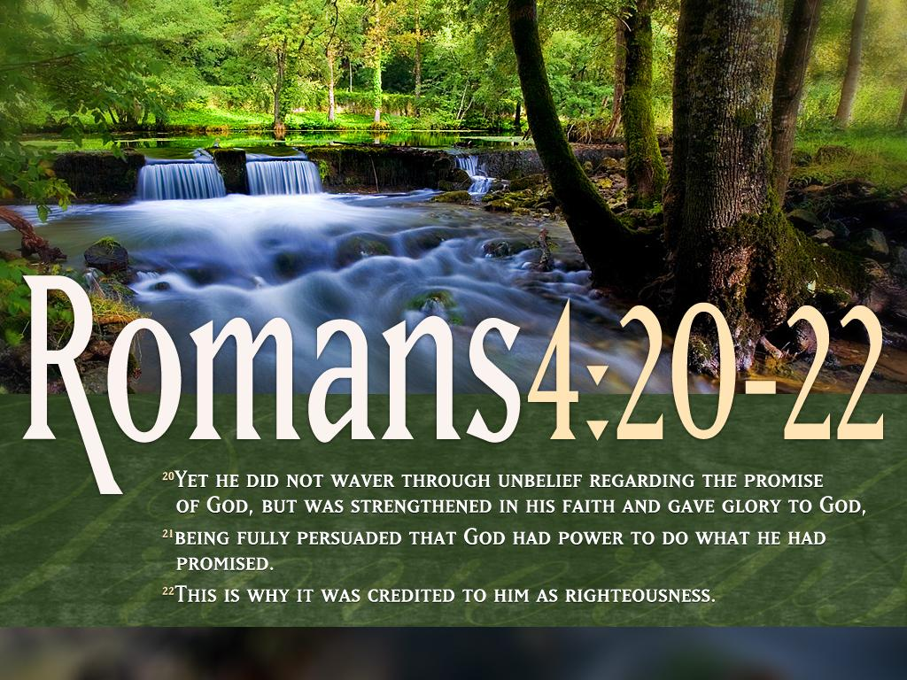 Romans 4:20-22 | Free Christian Images