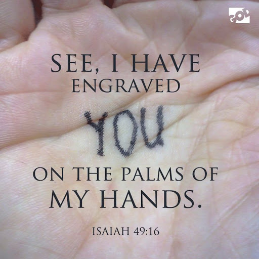 I Have Etched Your Name on My Hands, Isaiah 49:15-16 - First Presbyterian  Church of Boonton, NJ