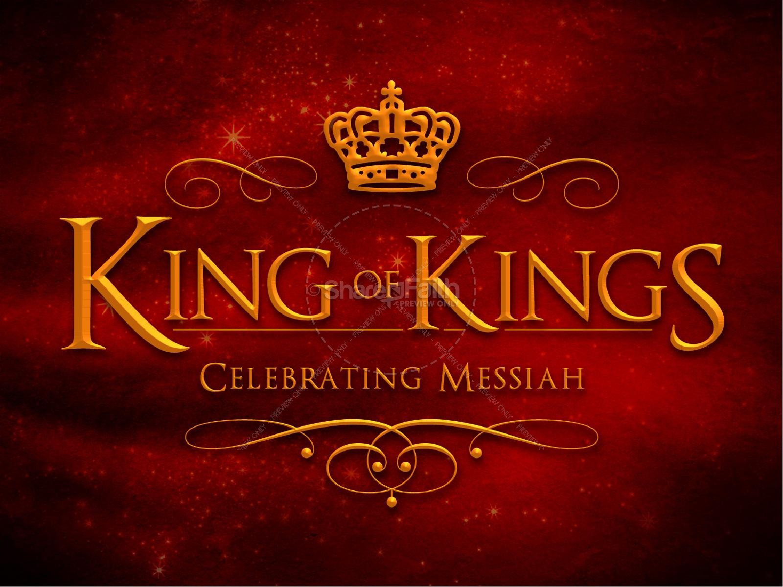 King of Kings Christmas Ministry PowerPoint | Christmas PowerPoints