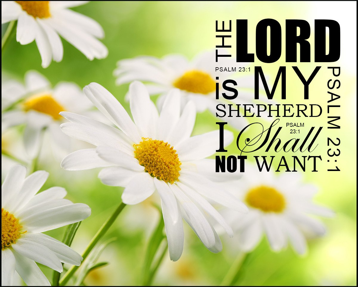 Psalm 23:1 The Lord is My Shepherd - Free Bible Verse Art Downloads - Bible  Verses To Go