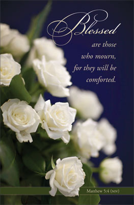 Standard Funeral Bulletin: Blessed are those who mourn