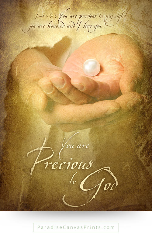 You Are Precious To God - Wall Art, Canvas Print - Paradise Canvas Prints