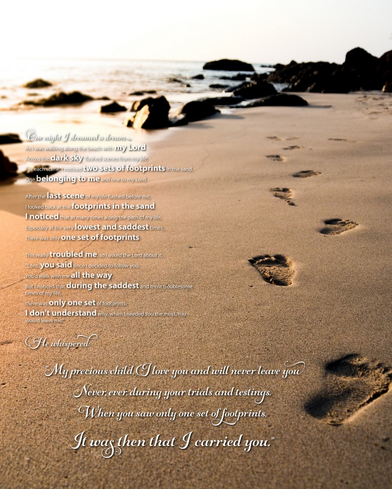 Footprints in the Sand Poem | Beautiful Poem from Only the Bible.com