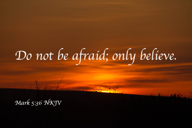Do Not Be Afraid – Only Believe – Lift Up Your Eyes!