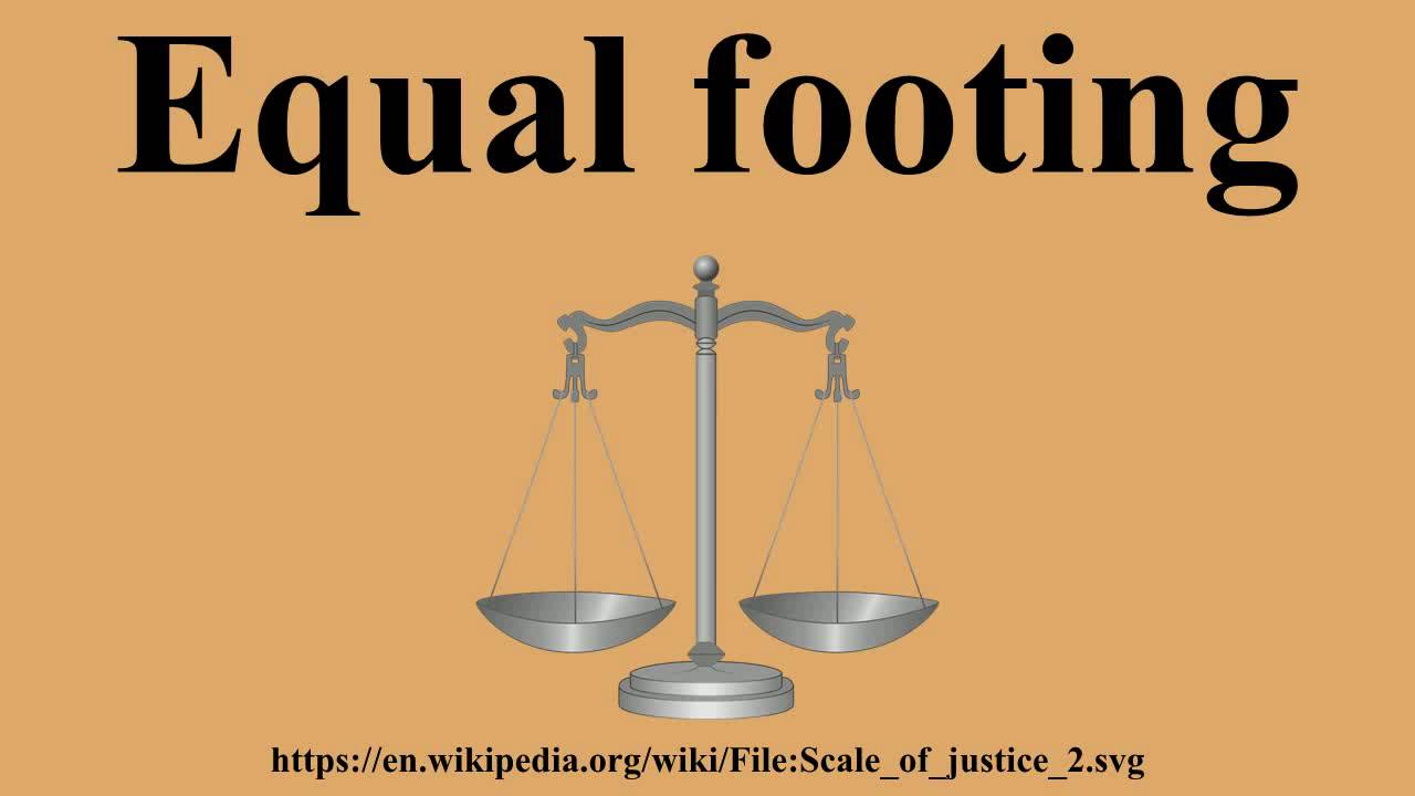 Equal footing - YouTube